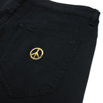 Love Moschino - Slim Peace Logo Jeans in Black - Nigel Clare