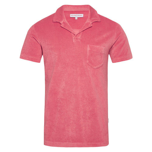 Orlebar Brown - Terry Towelling Polo Shirt in Watermelon - Nigel Clare