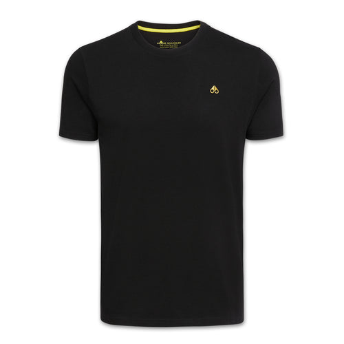 Moose Knuckles - Classic Logo T-Shirt in Black - Nigel Clare