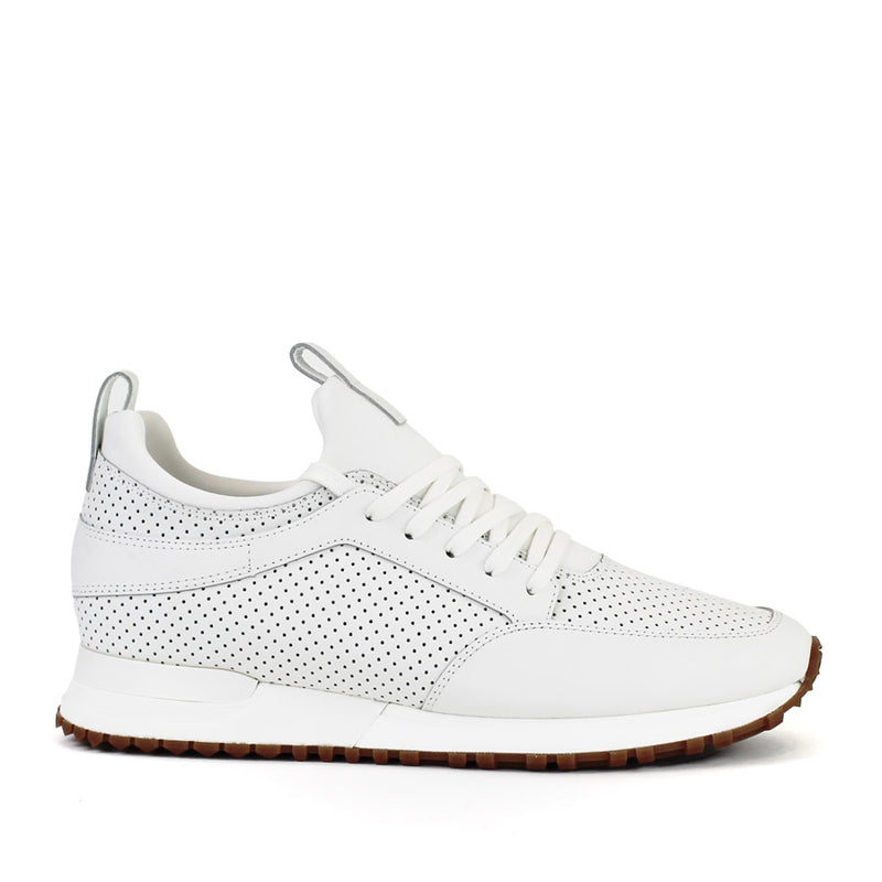 Mallet - Archway 1.0 Leather Trainers in White Gum - Nigel Clare