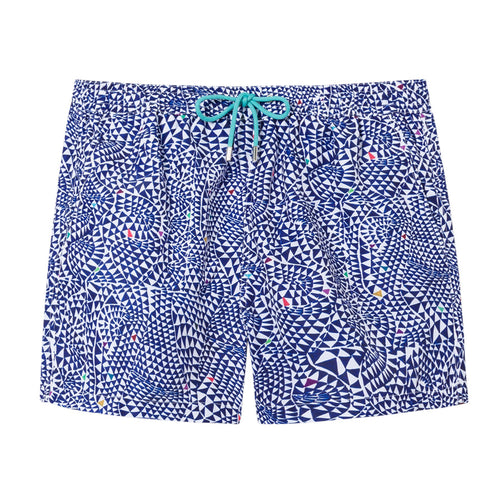 Paul Smith - Diamond Wave Swim Shorts in Blue - Nigel Clare