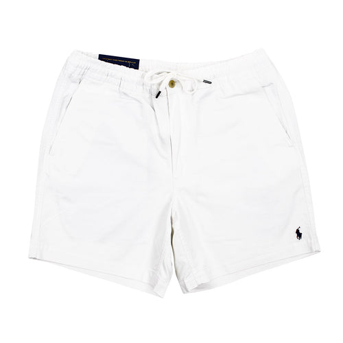 Polo Ralph Lauren - Classic Twill Prepster Shorts in White - Nigel Clare
