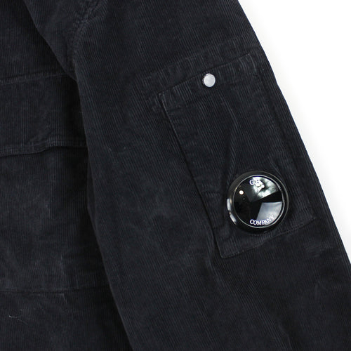 C.P. Company - Old Dyed Corduroy Overshirt in Navy