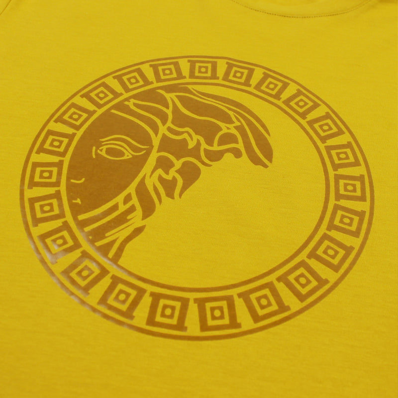 Versace Collection - Printed Logo T-Shirt in Yellow - Nigel Clare