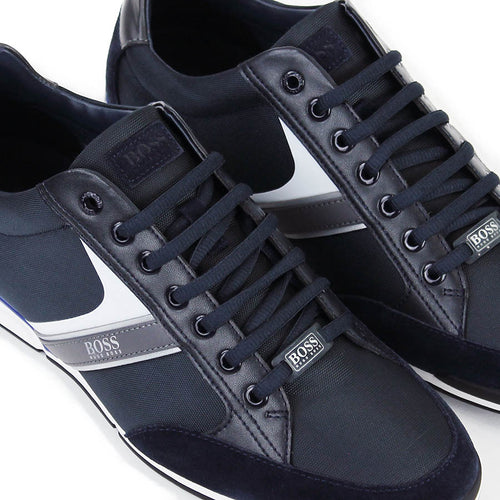 Hugo Boss - Saturn Low Top mx Trainers in Dark Blue