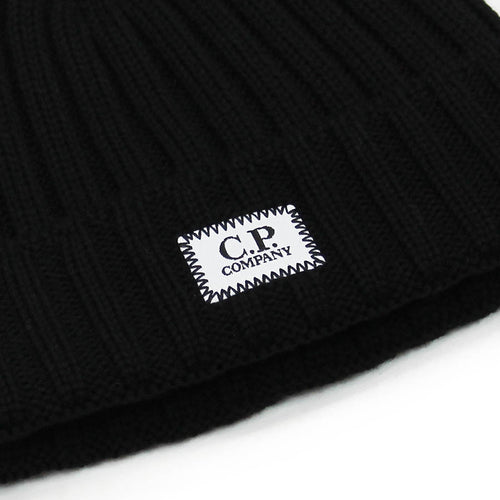 C.P Company - Small Logo Beanie in Black - Nigel Clare