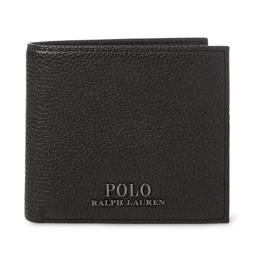 Polo Ralph Lauren - Pebbled Leather Billfold Wallet in Black - Nigel Clare