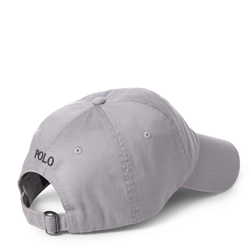 Polo Ralph Lauren - Cotton Chino Baseball Cap in Channel Grey - Nigel Clare