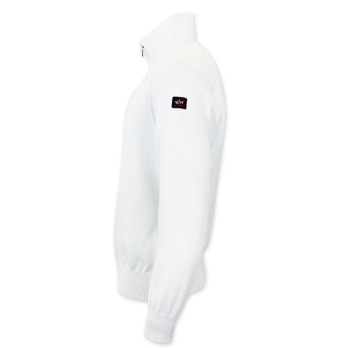 Paul & Shark - Watershed Quarter Zip Sweater in White - Nigel Clare