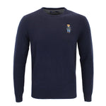 Polo Ralph Lauren - Bear Merino Wool Jumper in Navy - Nigel Clare