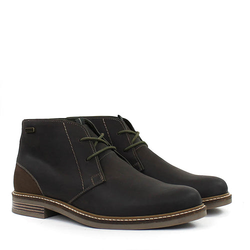 Barbour - Readhead Chukka Leather Boots in Chocolate - Nigel Clare
