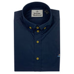 Vivienne Westwood - 2 Button Krall Shirt in Navy - Nigel Clare