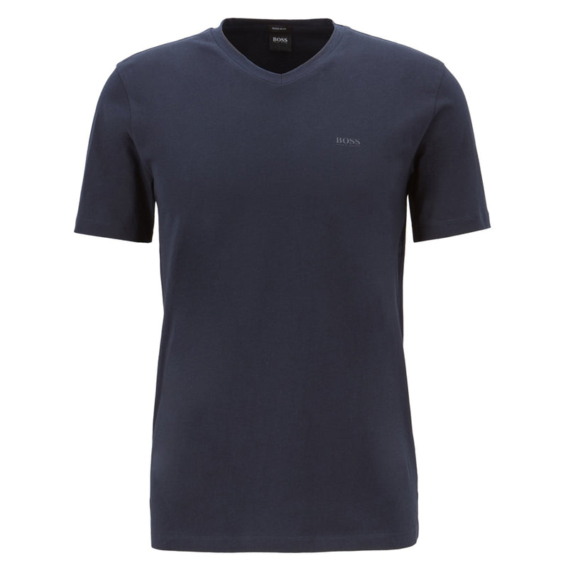 Hugo Boss - Canistro 80 V-Neck T-Shirt in Navy - Nigel Clare