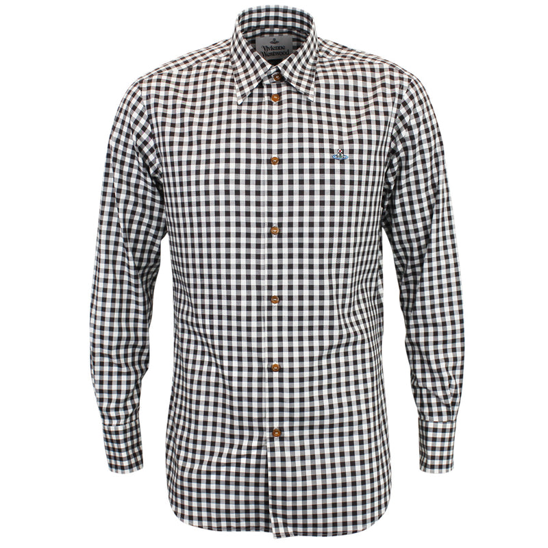 Vivienne Westwood - Single Button Check Shirt in Black & White - Nigel Clare