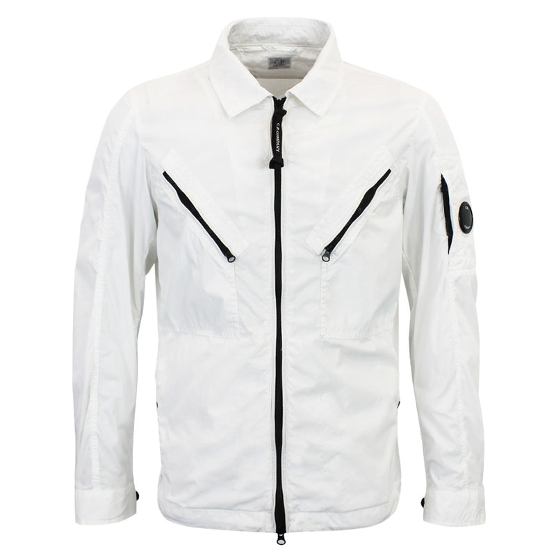 CP Company - 50 Fili Lens Overshirt in White - Nigel Clare
