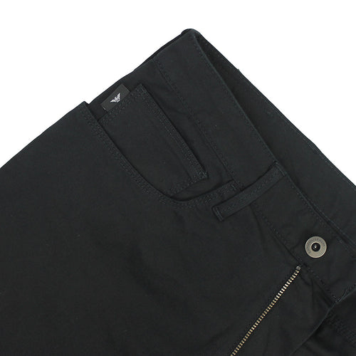 Emporio Armani - J06 Slim Fit Twill Chino Jeans in Black - Nigel Clare