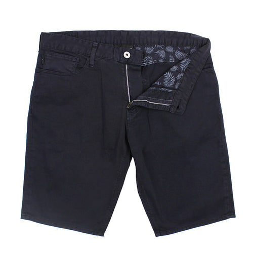 Emporio Armani - Cotton Twill Shorts in Navy - Nigel Clare