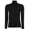 Ted Baker - NEWTRIK Fitted Roll Neck Jumper in Black - Nigel Clare