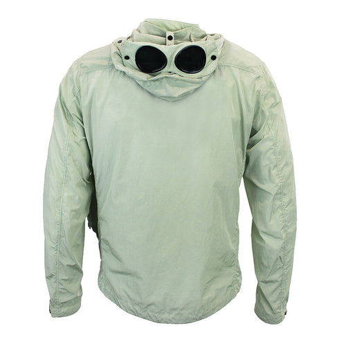 CP Company - Chrome Goggle Hooded Overshirt in Lime Green - Nigel Clare