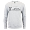 Versace Collection - Logo Print Crew Neck Sweatshirt in Grey - Nigel Clare