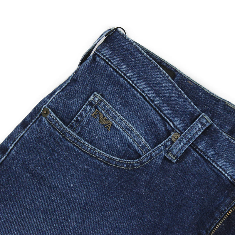 Emporio Armani - J45 Regular Fit Jeans in Mid Blue - Nigel Clare