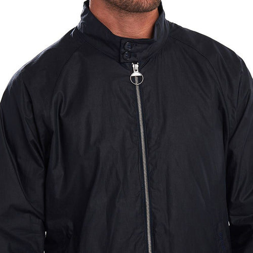 Barbour - Ender Lightweight Wax Bomber Jacket in Royal Navy
