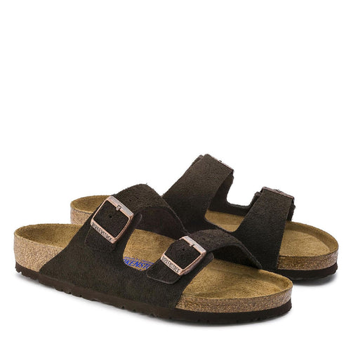 Birkenstock - Arizona Suede Leather Sandals in Mocha - Nigel Clare