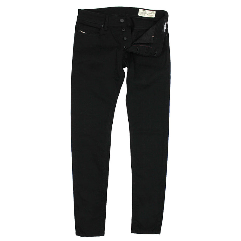 Diesel - Sleenker 069EI Skinny Jeans in Black/Dark Grey - Nigel Clare