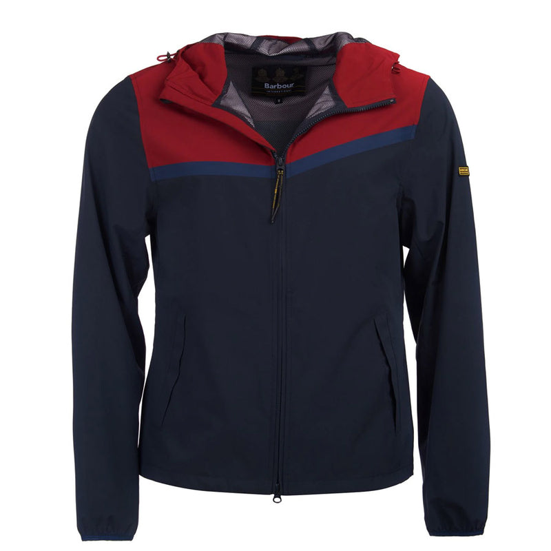 Barbour International - Sevens Casual Jacket in Biking Red/Navy - Nigel Clare