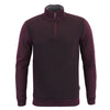 Ted Baker - Bits Textured Funnel Neck Half Zip Jumper in Purple - Nigel Clare