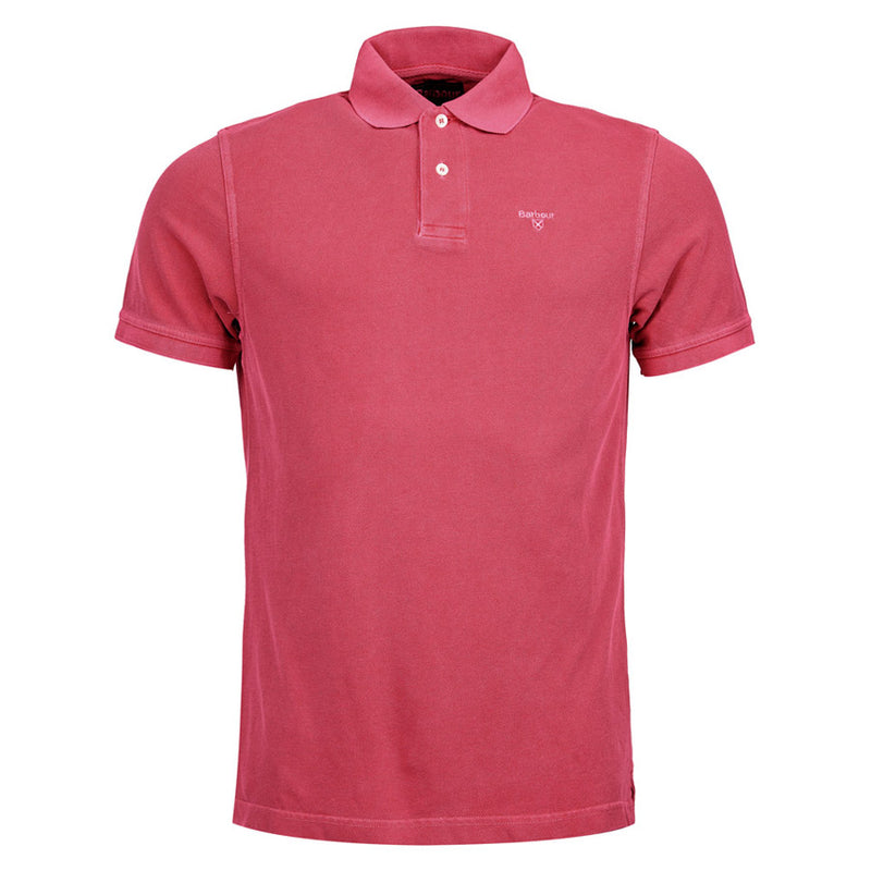 Barbour - Washed Sports Polo Shirt in Fuschia - Nigel Clare