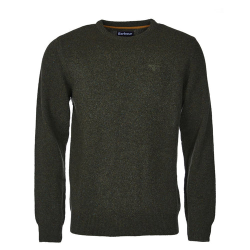 Barbour - Tisbury Crew Neck Jumper in Forest Green - Nigel Clare