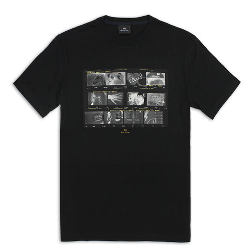 PS Paul Smith - 'Negatives' Print T-Shirt in Black - Nigel Clare