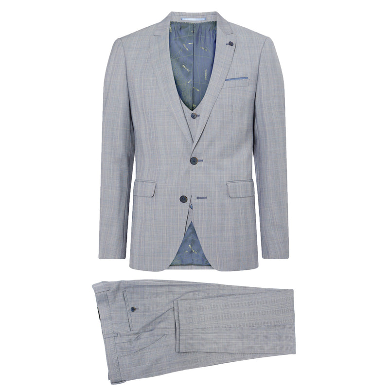 Remus - Lanito 3 Piece X-Slim Suit in Sky Blue - Nigel Clare