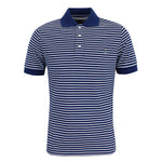 Vivienne Westwood - Striped Polo Shirt in Blue & White - Nigel Clare