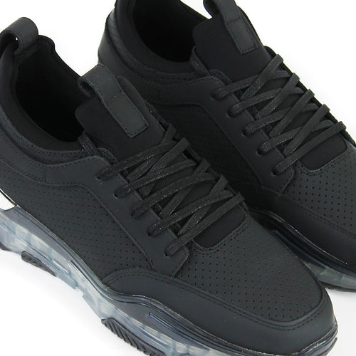 Mallet - Dalston Clear Sole Trainers in Black - Nigel Clare