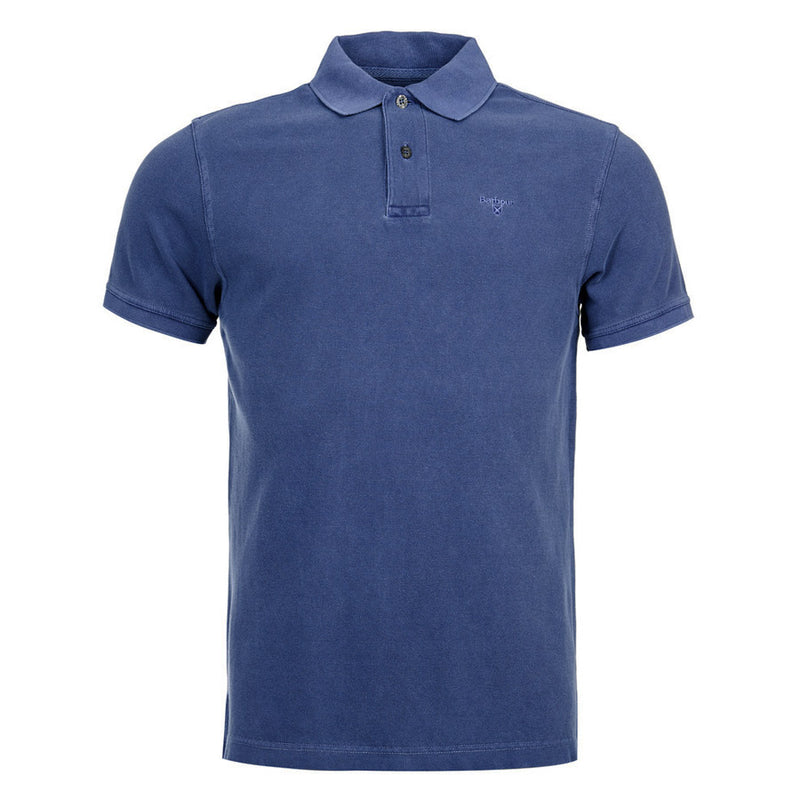 Barbour - Washed Sports Polo Shirt in Navy - Nigel Clare