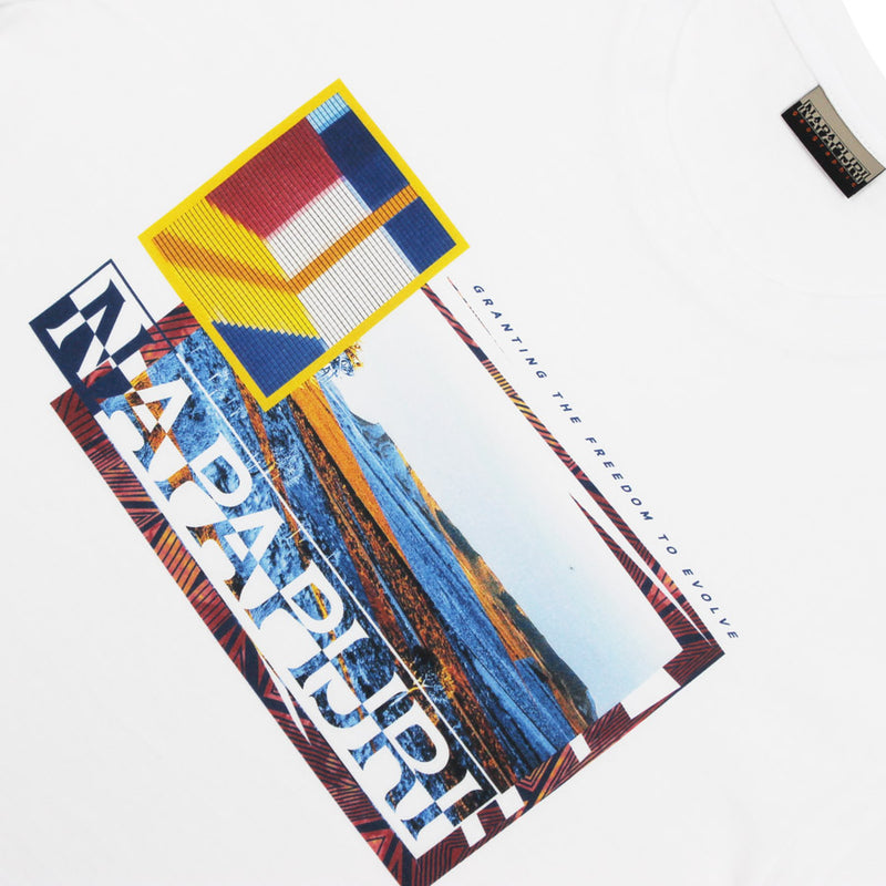 Napapijri - Saynte Fantasy T-Shirt in White - Nigel Clare