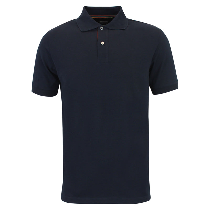 Paul Smith - Artist Stripe Placket Polo Shirt in Navy - Nigel Clare