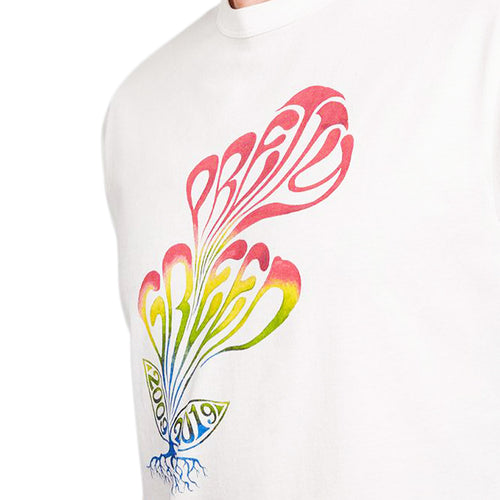 Pretty Green - Plant Print T-Shirt in White - Nigel Clare