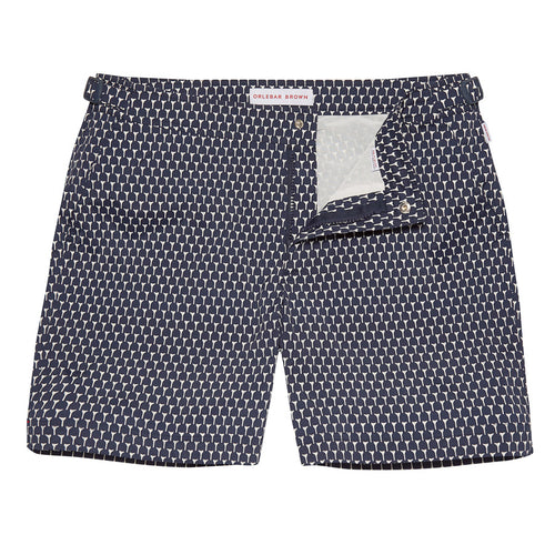 Orlebar Brown - Bulldog Sport Circhio Swim Shorts in Navy - Nigel Clare