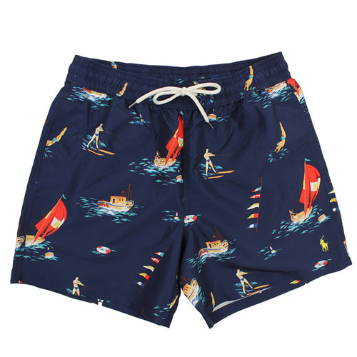 Polo Ralph Lauren - Montego Deco Traveller Swim Shorts in Navy - Nigel Clare