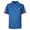 Pretty Green - Contrast Panel Polo Shirt In Blue - Nigel Clare