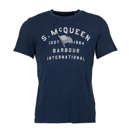Barbour International - SMQ Boon T-Shirt in Dress Blue - Nigel Clare