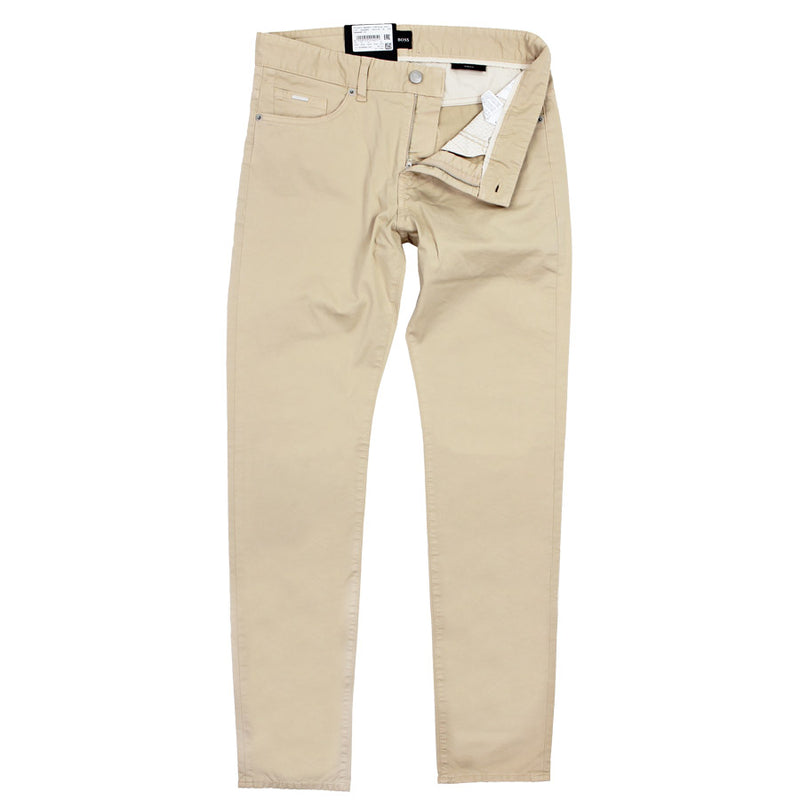 Hugo Boss - Delaware3-1-20 Slim Fit Cotton Chino Jean in Beige - Nigel Clare
