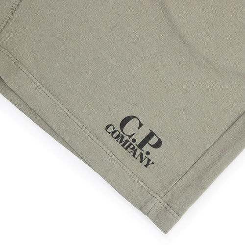 CP Company - Light Fleece Sweat Bermuda Shorts in Light Khaki - Nigel Clare