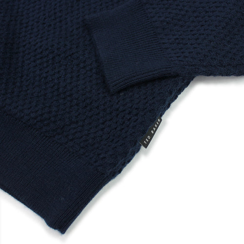 Ted Baker - Tunnel Textured Funnel Neck Jumper in Navy - Nigel Clare