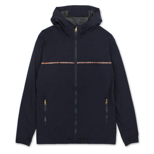Paul Smith - 'Signature Stripe' Hooded Cagoule in Navy - Nigel Clare