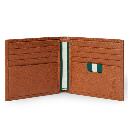 Polo Ralph Lauren - Pebbled Leather Billfold Wallet in Tan - Nigel Clare