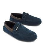 Ted Baker - Suede Moccasin Slippers in Dark Blue - Nigel Clare
